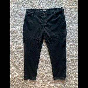 Black legging jeans, plus sized - 26